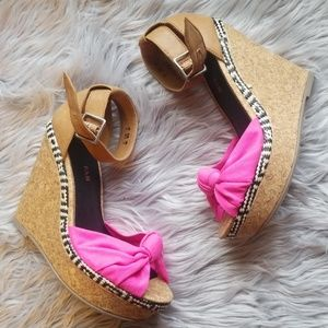 Pink and Tan Wedges